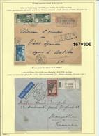 Lot De 2 Lettres Par Avion De Fort Lamy (Tchad)-Antibes Et Zinder-Marseille Via Oran (ligne SABENA) (167) - Poste Aérienne