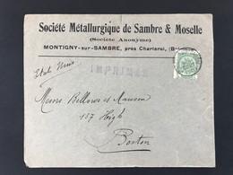 Briefomslag OBP 83 EC MONTIGNIES-SUR-SAMBRE - 1893-1907 Armoiries