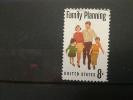 FRANCOBOLLI STAMPS U.S.A. UNITED STATES STATI UNITI 1972 USED FAMILY PLANNING FAMIGLIA OBLITERE' - Usados