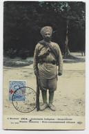 BELGIQUE CROIX ROUGE 25C POSTE MILITAIRE BELGE  AU RECTO CARTE INFANTERIE INDIGENE SOUS OFFICIER 1914 INDIA - [OC1/25] Gen.reg.