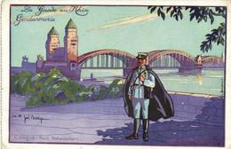Joe Bridge La Garde Du Rhin Gendarmerie Cologne Pont Hohenzollern    RV - Otros