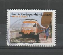 "FRANCE / 2014 / Y&T N° AA 1008 : ""Trains"" (RTG2057 - Boulogne-aéroglisseurs) - Choisi - Cachet Rond (2016) - Luchtpost"