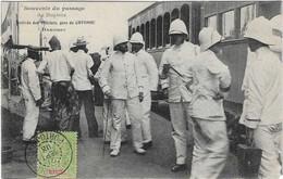 DAHOMEY COTONOU PASSAGE TRAIN DUPLEIX ARRIVEE DES OFFICIERS GARE ANIMATION BEAU PLAN A  VOIR - Bahnhöfe Mit Zügen