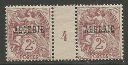 Algérie 074 1924-25 N°3 Millésime - Ungebraucht