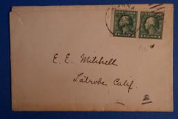 L2 ETATS UNIS BELLE LETTRE 1914  POUR LATROBE + AFFRANCH INTERESSANT - Briefe U. Dokumente