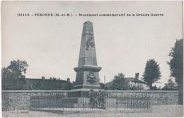 54. PEXONNE. Monument Commémoratif De La Grande Guerre. 31113 - Altri Comuni