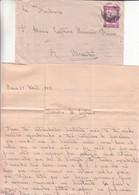 Portugal - Cap Vert - Lettre De 1943 - Oblit Cabo Verde - Exp Vers Abrantes -  - Cachet De Lisboa - Avec Contenu - Kapverdische Inseln