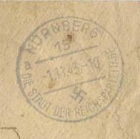 1943 / Enveloppe + Courrier / Prisonnier Camp Nurnberg Allemagne / Censure - 1939-45