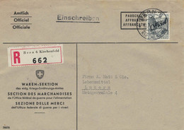 Warensektion Des Eidgenössischen Kriegs-Ernährungs-Amtes Bern Kirchenfeld 12.11.1943 Reco > Matt & Cie Luzern - Officiel - Officials