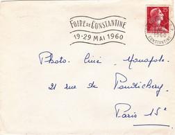 Algérie LSC Constantine, Port Gueydon Tizi Ouzou 04/1960. Cotés Env. Coupés. Faciale En Anciens Francs 2 Scans - Lettres & Documents
