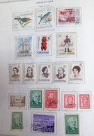 A) 1967, ARGENTINA, LOT OF 19 STAMPS, BIRDS, PRO CHILDHOOD, THE PICNIC PAINTER FERNANDO FADER, MARINE DAY, UNESCO, ARRIB - Lettres & Documents