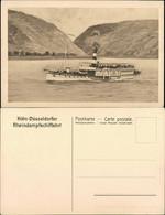 Ansichtskarte Königswinter Köln- Düsseldorfer Rheinschiffahrt 1914  - Koenigswinter