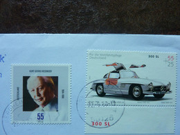 2004  2 Stamps  Used On A Letter - Usati