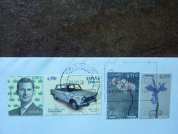 4 Sellos Used On A Letter - 2001-10 Used