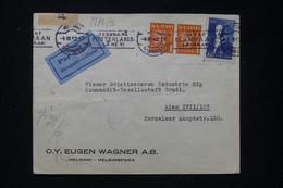 FINLANDE - Enveloppe Commerciale De Helsinki Pour Wien Par Avion En 1942 Avec Contrôle Postal - L 89701 - Cartas