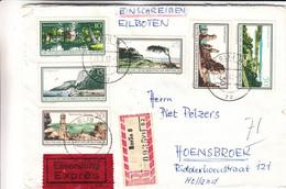 Allemagne - République Démocratique - Lettre Recom Exprès De 1967 - Oblit Berlin - Avec Vignette - Cartas