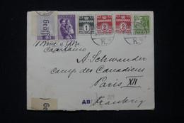 DANEMARK - Enveloppe Pour Un Capitaine Au Camp Canadien De Paris En 1941 Avec Contrôle Postal Allemand - L 89702 - Briefe U. Dokumente