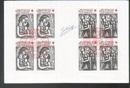 Carnet Croix Rouge 1961, Obliteration 1er Jour De Bourges, 18, Signature Du Graveur - Red Cross