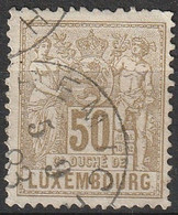 Luxembourg  1882 N° 55 Allégorie (H4) - 1882 Allegorie