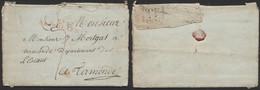 Armée De Napoléon - L. Datée De Linsen? 6/5/1808 + N°87 / GRANDE ARMEE (rouge) > Termonde (Belgique) - Army Postmarks (before 1900)
