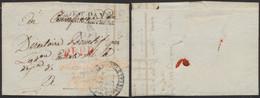 """Armée De Napoléon - L. à En-tête """"Quartier Général De Rouen"""" (état-Major) 1 Fructidor An VI + Port Payé Arm D'Angleterre - Army Postmarks (before 1900)"""