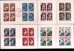 4 Carnets Croix Rouge 1966, 67, 68 Et 69 Avec Obliteration 1er Jour - Red Cross