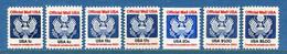 ⭐ Etats Unis - Servie - Taxe - YT PA N° 98 à 104 - Neuf Sans Charnière - 1983 ⭐ - Neufs