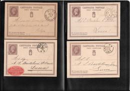 Italia 1876-78 Lotto Di 4 Interi, Filagrano C1, Ottima Conservazione ( Ref 437b) - Stamped Stationery