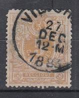 BELGIË - OBP - 1869/83 - Nr 28 - T0 (VILVORDE) - Coba + 1.50 € - 1869-1888 Lying Lion