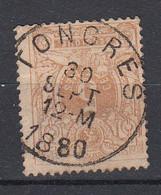 BELGIË - OBP - 1869/83 - Nr 28 - T0 (TONGRES) - Coba + 1.50 € - 1869-1888 Lying Lion