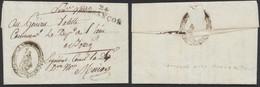 Armée De Napoléon - L. Datée De Besançon 16 Pluviose An 11 (6e Division Militaire), Ménard Général De Division + Obl Lin - Army Postmarks (before 1900)