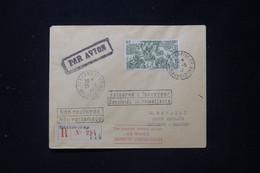 MADAGASCAR - Enveloppe 1er Vol Tananarive / Lourenço Marqués En Recommandé En 1947, Affr. Tchad Au Rhin - L 89709 - Covers & Documents