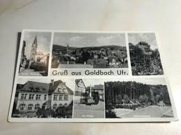 Germany Deutschland Goldbach Unterfranken Ufr Kreuz Schwimmbad Schwimm Bad Swimming Pool 12553 Post Card POSTCARD - Non Classificati