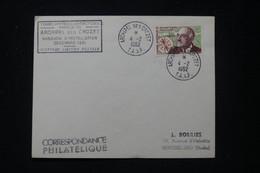 T.A.A.F. - Enveloppe Par 1er Vol De L'Archipel Crozet Pour La France En 1962 Avec Cachet De La Mission - L 89712 - Sin Clasificación
