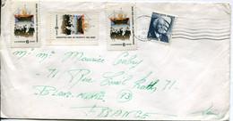 Stati Uniti (1971) - Busta Per La Francia - Due Valori Non Annullati - Cartas