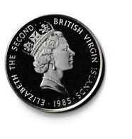 ILES VIERGES BRITANNIQUES - 20 Dollars ARGENT Elisabeth 2 - 1985 ( Blason ) - British Virgin Islands