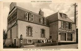 Douarnenez * Devanture Restaurant Pension De Famille Hôtel LES QUATRE VENTS , FABRE Propriétaire * Plage Du Ris - Douarnenez