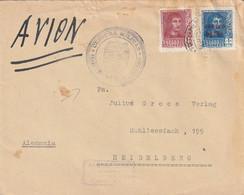 Espagne Lettre Censurée Cuartel General Del Generalisio Pour L'Allemagne 1938 - 1931-50 Cartas