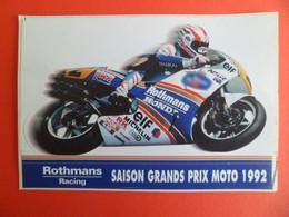 Autocollant  Rothmans Racing - Saison Grans Prix Moto 1099 - HONDA - - Stickers