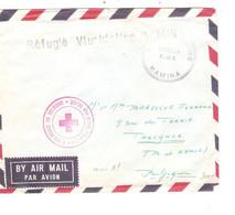 900PR/Courrier Militaire FMA Avion C.Base Militaire Kamina + Griffe Noire Réfugié Vluchteling Kamina + C.C.R. > Belgique - Republik Kongo - Léopoldville (1960-64)