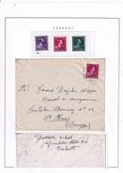 DDY 688 -- Collection THOUROUT - Feuille D' Album Surcharge LOCALE Moins 10 % - Série De 3 Timbres + 1 Enveloppe - 1946 -10%