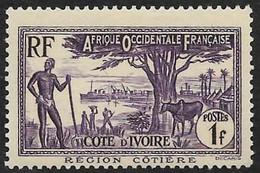 COTE D'IVOIRE   1936-38 -  Y&T  157 - Région Côtière  -  NEUF* - Neufs