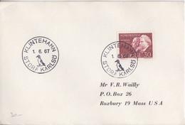 Suéde, Lettre Obl. Klinteham (pingouin) Le 1/6/67 Sur N° 552 (Thomson) - Briefe U. Dokumente