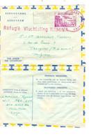 RDC Aérogramme Daté Baka 18/7/1960 C. Rouge Base Militaire Kamina + Griffe Rouge Réfugié Vluchteling Kamina > Belgique - Republik Kongo - Léopoldville (1960-64)