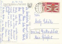 Tschechoslowakei Klasterec Nad Ohri TGST 1977 MI. 2374 Gewerkschaftskongress Prag - Postkarte Nach DDR - Cartas
