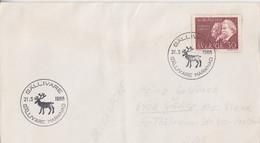 Suéde, Lettre Obl. Gällivare (renne) Le 21/3/68 Sur N° 552 (Thomson) - Briefe U. Dokumente