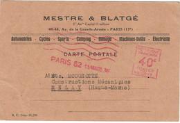 1936 / EMA Mestre & Blatgé / Paris / Auto, Cycles, Sport,etc - Freistempel