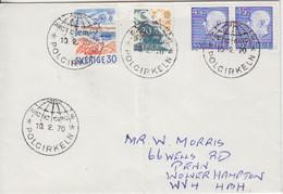 Suéde, Lettre Obl. Arctic Circle Polcirkeln Le 10/2/70 Sur N° 522, 567 X 2, 570 (Gustave VI) - Briefe U. Dokumente
