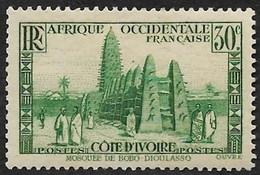 COTE D'IVOIRE   1936-38 -  Y&T  117   -  Mosquée -  Neuf* - Neufs