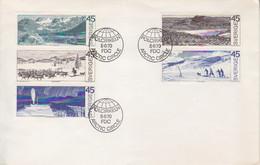 Suéde, Lettre Obl. 1° Jour FDC Arctic Circle Polcirkeln Le 5/6/70 Sur N° 657 à 661 (autour Du Cercle Polaire) - Briefe U. Dokumente